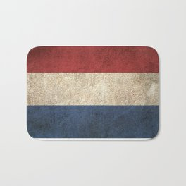 Old and Worn Distressed Vintage Flag of The Netherlands Bath Mat