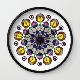 abstract nonagon mandala Wall Clock