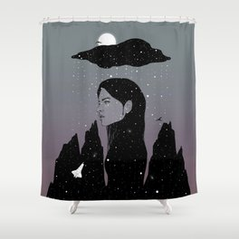 If My Dark Cloud Were Full of Stars (I'd Let It Hang Over Me) Shower Curtain