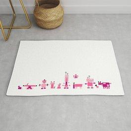 Robots-Pink Rug