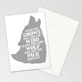 Wolf Pack Meme Snow Kingdom Fantasy Gift Stationery Cards