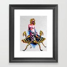 Mantis water color Framed Art Print