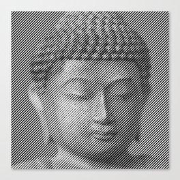 Buddha Face Statue Canvas Print