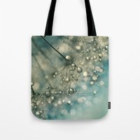 sparkles Tote Bags featuring Indigo Sparkles by Sharon Johnstone