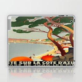 Vintage poster - Cote D'Azur, France Laptop & iPad Skin