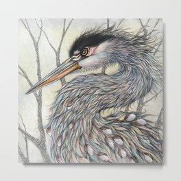 Great Blue Heron by Amy B Chen Metal Print