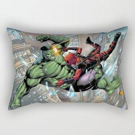 Hulk Vs The Merc With a Mouth (DP) Rectangular Pillow