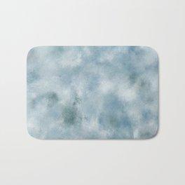 Blue dark green batic look Bath Mat