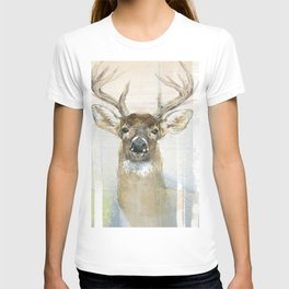 White-tailed Deer Surrounded By Birch T-shirt