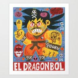 Goku Tu Madre Art Print