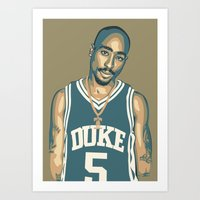 tupac Art Prints featuring TUPAC by UCArts