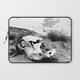 Desert Skull in Black and White Photography Laptop Sleeve