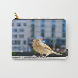 City Bird Lovely Sparrow Urban Scene #decor #society6 #buyart Carry-All Pouch