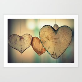 Hearts in the Wind Art Print