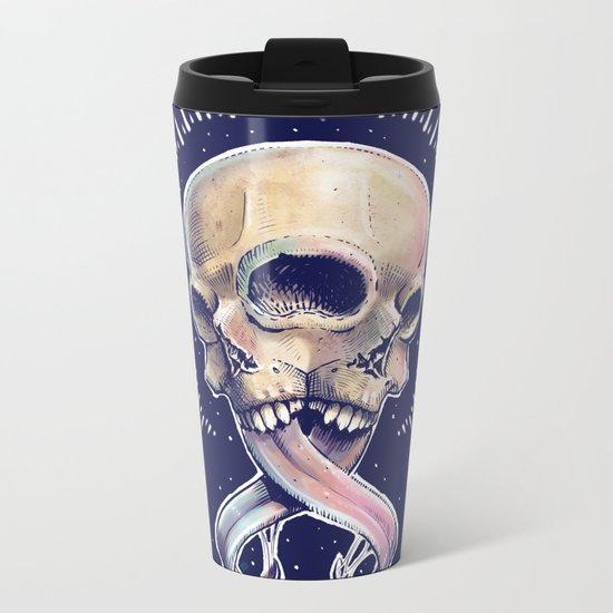 Triple eyed skull Metal Travel Mug