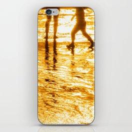 sunset golden stars summer iPhone Skin