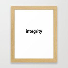integrity Framed Art Print