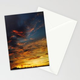 Blue And Yellow Sky By The Sunset Stationery Cards