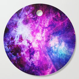 Purple Blue nebuLA Cutting Board