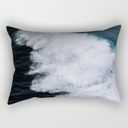 Powerful breaking wave in the Atlantic Ocean - Landscape Photography Rectangular Pillow