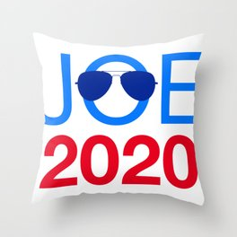 Joe Biden 2020 Aviator Sunglasses Throw Pillow