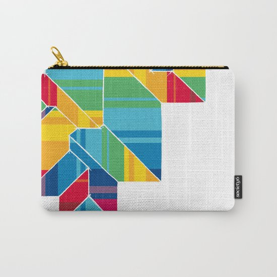 Colorful Roof Carry-All Pouch