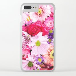 Bloom Bright Flower Photography Flat Lay Clear iPhone Case