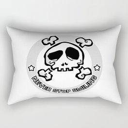 Never Stop Smiling (light) Rectangular Pillow