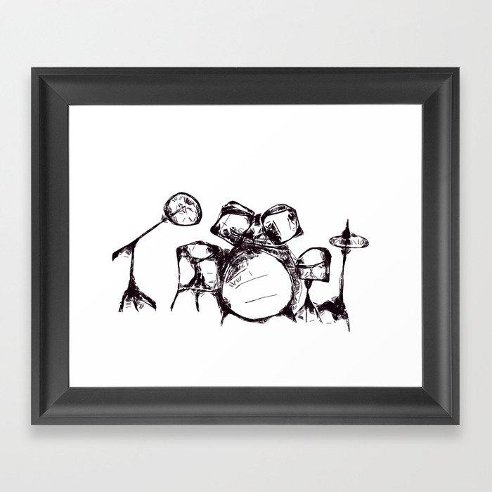 Drums Framed Art Print
