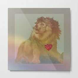 lion hearted Metal Print