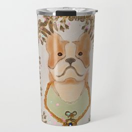 Sgt. Stubby Ultimate Boston Terrier Good Boy WWI Hero With Confetti Travel Mug