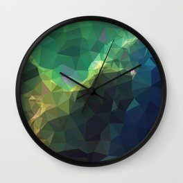 Galaxy low poly 3 Wall Clock