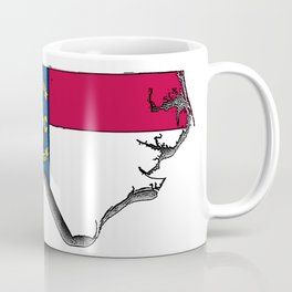 North Carolina Map with North Carolinian Flag Coffee Mug