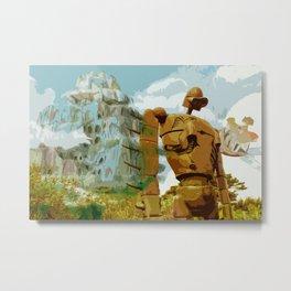 Castle in the Sky * El Castillo en el cielo * Ghibli Inspiration Metal Print