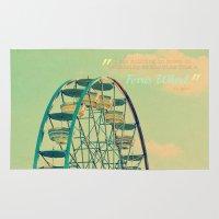 ferris wheel Area & Throw Rugs featuring Ferris Wheel  by RDelean