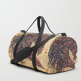 Abstract Horse Digital Ink Pollock Style Duffle Bag
