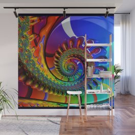 SPIRAL, RAINBOW, fractals by Alice Kelly, prints, gifts and decor  Wall Mural