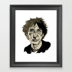 Neil Gaiman Framed Art Print