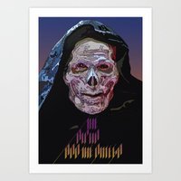 skeletor Art Prints featuring SKELETOR  by TidyDesigns