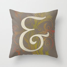 French Script Ampersand Throw Pillow