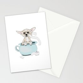 Chihuahua on toilet Stationery Cards