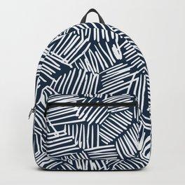 Navy blue criss cross Backpack