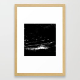 Trenches at dusk Framed Art Print
