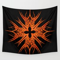 tribal Wall Tapestries featuring Tribal by haroulita