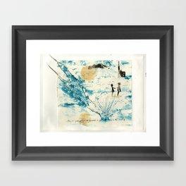 Mermaid of Zennor collagraph 3 Framed Art Print
