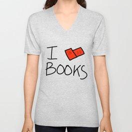 I Heart Books | Veronica Nagorny Unisex V-Neck