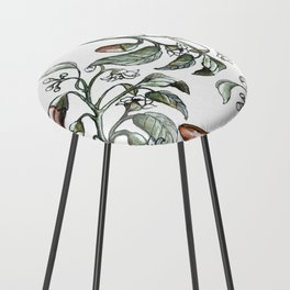 Hot Peppers Botanical Drawing Counter Stool
