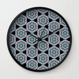 Transparent Floral Sushi Geometric Pattern Wall Clock