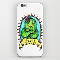 sassy iPhone & iPod Skins featuring Sassy Cactus by LittleWillowArt