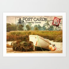 Postcard From My Travels Art Print